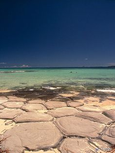 Tatami (Turtle Shell) Rocks on the Beach of Kume-Jima ~ Okinawa Prefecture, Japan