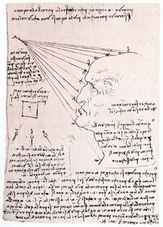 Page: Study of the effect of light on a profile head (facsimile) Artist: Leonardo da Vinci Completion Date: c.1488 Place of Creation: Milan, Italy Style: Early Renaissance Genre: sketch and study Technique: chalk, ink Material: paper Dimensions: 20.3 x 14.3 cm Gallery: Galleria degli Uffizi, Florence, Italy