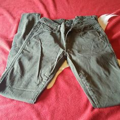 Tripp Army green jeans Tripp jeans that are army green in color. They're is orange yellow fading in them that is supposed to be there. Only worn a few times Tripp nyc Jeans Skinny