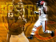 Hester stands alone at the top! Devin Hester, Little League Baseball, Best Ipad, Best Player, Chicago Bears, Superhero, Monsters, Athletes, Legends