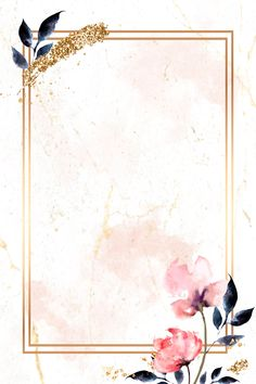 Laden Sie den Premium-Vektor Golden Rectangle with floral frame vector 936995 - . Leaves Wallpaper Iphone, Flower Background Wallpaper, Framed Wallpaper, Flower Backgrounds, Watercolor Background, Background Patterns, Wallpaper Backgrounds, Fond Design, Molduras Vintage