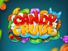 Candy Cruise match three game on Behance Game Font, Game Ui, Typography Logo, Lettering, Candy Logo, Candy Games, Casino Logo, Game Logo Design, Game Props