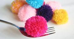 Mini Pompoms aus Wolle einfach und schnell selber machen