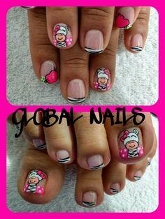 Pedicure Colors, Pedicure Nail Art, Toe Nail Art, French Pedicure Designs, Nail Designs, Feet Nail Design, Wedding Pedicure, Cute Pedicures, Glitter Manicure