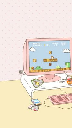 Retro Gaming ★ Find more Very Kawaii wallpapers for your #iPhone + #Android @prettywallpaper
