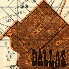 Sam Street's map of #Dallas County, #Texas and surroundings (1900)