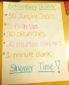 Get sweaty them get clean!