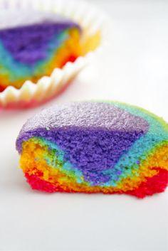Rainbow Cupcakes - so festive!