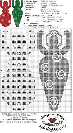 Yule cross stitch goddess Ornaments