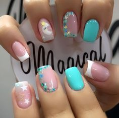 Bridal Nails Designs, Heart Nail Designs, Nail Art Designs Videos, Cute Nails, Pretty Nails, My Nails, Precious Nails, Purple Nail Polish, Heart Nails