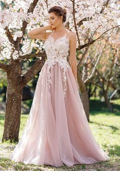 2017 prom dresses,light pink prom dresses,lace applique prom dresses,long prom dress, evening on Storenvy Pageant Dresses For Teens, Pretty Prom Dresses, A Line Prom Dresses, Tulle Prom Dress, Prom Dresses Online, Quinceanera Dresses, Cheap Prom Dresses, Bridesmaid Dress, Party Dress