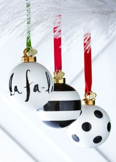 Christmas ball ideas. Definitely need to do this to some of our existing supply