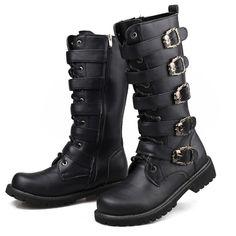 dc5f04d2629 Brand Winter high boots trend martin boots punk fashion men s shoes gaotong  denim boots Plus 45 Alternative Measures - Alternative Measures