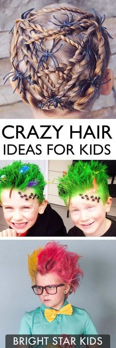For more child-friendly ideas and DIY's go to blog.brightstarkids.com.au #crazyhair #wackyhair #kidscrazyhairday