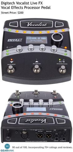 Digitech Vocalist Live FX. This is one of the highest rated Vocal Effects Pedals with Harmony, Pitch/FX, Distortion/Filter, Modulation, Delay, Lexicon Reverbs and more.