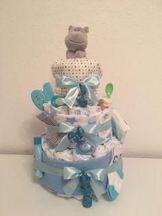 Windeltorte Geschenk Baby Taufe Geburt Junge Blau  | eBay