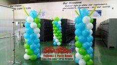 GF Micro Optics Laguna Technopark, Binan Laguna Balloon Pillars, Company Anniversary, Light Of Life, Our World, Balloons, Party, Globes, Balloon, Parties