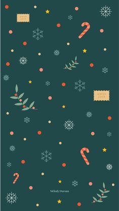 December Wallpaper, Christmas Phone Wallpaper, Holiday Wallpaper, Winter Wallpaper, Pastel Wallpaper, Illustration Noel, Christmas Illustration, Iphone Background Wallpaper, Aesthetic Iphone Wallpaper