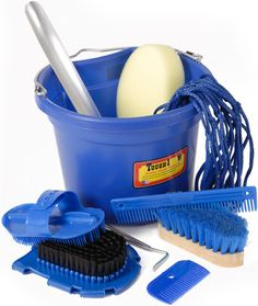Saddles Tack Horse Supplies - ChickSaddlery.com Tough-1 10-Piece Grooming Bucket #WinYourWishList