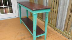 Sofa Table Side TableReclaimed Wood Shabby Chic by PalletsNstuff