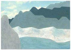 Jochen Gerner acrylique sur carte postale
