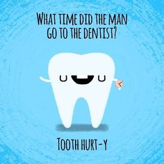 This timeless tooth pun: 23 Dad Jokes That Are So Bad They're Good Dentist Puns, Dental Jokes, Dentist Quotes, Dental Hygiene, Dental Health, Funny Jokes For Kids, Silly Jokes, Dad Jokes, Library Memes