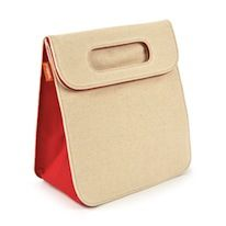 Alec Insulated Lunch Bag in Natural + Red Adult Lunch Box, Red Tote Bag, Insulated Lunch Bags, Natural Red, Shopper Tote, Lunch Boxes, Food Storage, Card Case, Insulation