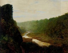 October Gold, 1889 by John Atkinson Grimshaw. Romanticism. landscape. Private Collection