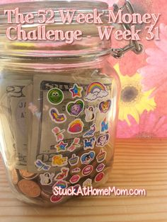 The 52 Week Money Challenge - Week 31 52 Week Money Challenge, Rainy Day Fund, Big Jar, Money Jars, Frugal Tips, Money Matters, Helpful Hints, Saving Money, Budgeting