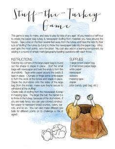 """Food isn't all you need to plan ahead for a successful Thanksgiving Day! Tips from the Mom-Experts at #SMPLiving on keeping the kiddo's #content  while waiting for that bird to brown! A few ideas + a """"Stuff - The-Turkey - Game"""" from #SMPLiving! http://www.StyleMePretty.com/living/2015/11/21/keeping-the-kids-entertained-at-holiday-dinners-2/"""
