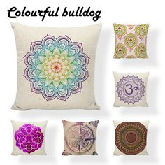 Cheap cushion cover, Buy Quality cover cushion directly from China cushion cover geometric Suppliers: Customized Geometric Mandala Chakra Cushion Cover Nautical Compass Cushion Wedding 17.7Inch Linen Printed Home Decor Almofada