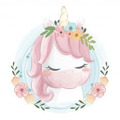 Lindo dinosaurio y mariposa Vector Premium Cute Unicorn, Unicorn Art, Cartoon Unicorn, Baby Animal Drawings, Cute Drawings, Unicornios Wallpaper, Unicorn Pictures, Baby Posters, Belly Painting