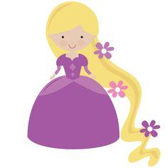 Fairytale Princess In Purple - SVG Scrapbooking File
