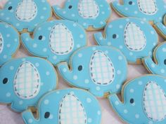 Spotted Elephant Baby Shower Cookies