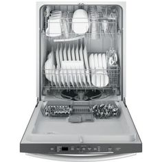 Simplify the way you live by choosing this GE Top Control Dishwasher in Stainless Steel with Steam Cleaning. Fully Integrated Dishwasher, Kitchen Drawer Organization, Built In Dishwasher, Lowes Home, Steam Cleaning, Energy Star, Clean Design, Cool Kitchens, Kitchen Appliances