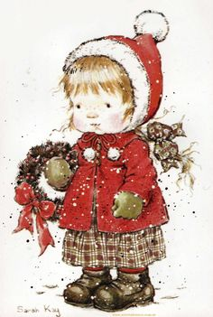gifs et tubes sarah kay - Page 6 Noel Christmas, Vintage Christmas Cards, Christmas Pictures, Xmas Cards, Vintage Cards, All Things Christmas, Vintage Postcards, Christmas Crafts, Christmas Ornament