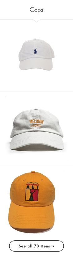 """""""Caps"""" by balmainharry ❤ liked on Polyvore featuring accessories, hats, headwear, fillers, baseball caps hats, baseball hats, white hat, baseball caps, white ball cap and caps"""