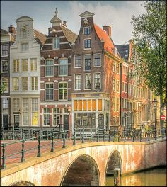 Dutch canals, Amsterdam ** T B Amsterdam Houses, I Amsterdam, Places To Travel, Places To Visit, Luxembourg, Rotterdam, Beautiful Places, Scenery, Around The Worlds