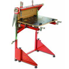 Kids Work Bench Tool Table Garage Workshop Teenagers Adjustable Folding Steel #KidsWorkBench