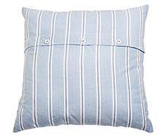 Funda de cojín Gorel, azul y blanco - 50x50