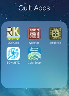Apps for Quilters Phone apps for quilters; who knew? *look for the small square that says quilt apps and click there to read more about the apps! Quilting Tools, Quilting Tutorials, Machine Quilting, Quilting Projects, Quilting Designs, Sewing Projects, Quilting Ideas, Sewing Tools, Paper Piecing