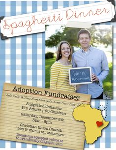 This family raised over $3,000 with a spaghetti dinner! http://tonyandemily.blogspot.com/2012/12/spaghetti-with-side-of-thankfulness.html