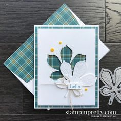 Mary Fish, Art Carte, Stampin Pretty, Karten Diy, Leaf Cards, Thanksgiving Cards, Stamping Up Cards, Fall Cards, Pretty Cards