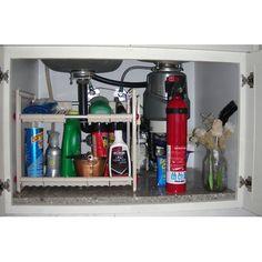 Best Stores Under Sink Storage Shelf By Rebrilliant Pot Organization, Sink Organizer, Kitchen Cabinet Organization, Kitchen Storage, Cabinet Organizers, Kitchen Sink, Organizing Ideas, Diy Kitchen, Kitchen Gadgets