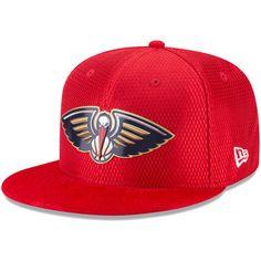 new york c86af b3d7a Men s New Orleans Pelicans New Era Red NBA On-Court Original Fit 9FIFTY  Adjustable Hat