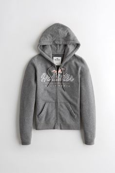 Buy Hollister Grey Logo Hoody from the Next UK online shop Hollister Style, Hollister Girls, Hollister Clothes, Hollister Logo, Hollister Mens, Hollister Jackets, Hollister Sweatpants, Outfit, Cowls