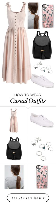 """Casual Day"" by cindycardozo on Polyvore featuring Chicwish, Keds, Casetify and ASOS"