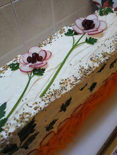 Σαλάτα Sandwich cake !!! ~ ΜΑΓΕΙΡΙΚΗ ΚΑΙ ΣΥΝΤΑΓΕΣ 2 Sandwich Cake, Sandwiches, Party Food For Adults, Party Food Buffet, Easy Meals, Appetizers, Cooking, Desserts, Christmas
