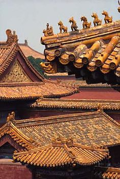 ☮ Travel Asian Forbidden City Rooftops. Beijing, China