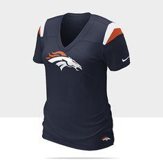Nike Fashion V-Neck NFL Denver Broncos Women's T-Shirt - College Navy
